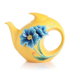 Blue Poppy Teapot