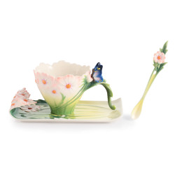 Cosmos & Butterfly Cup & Saucer with Spoon