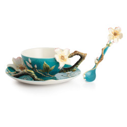 Van Gogh Almond Flower cup & Saucer with Spoon